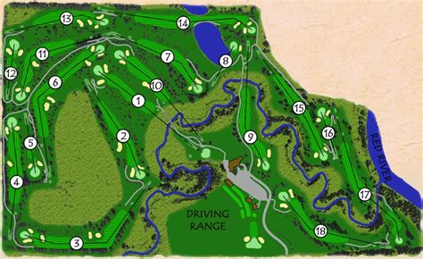 golf courses map grand forks country club the course