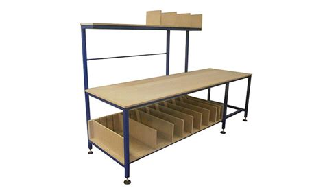 packing benches packing bench tables manufactured by spaceguard