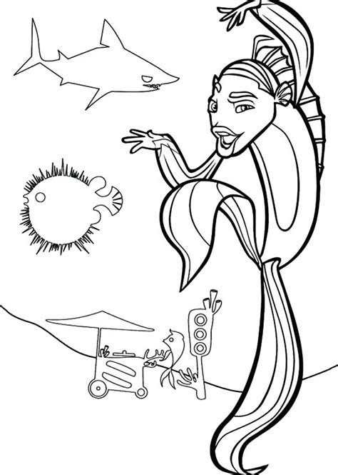 Don Lino The Great White Shark From Shark Tale Coloring Shark Tale Coloring Pages