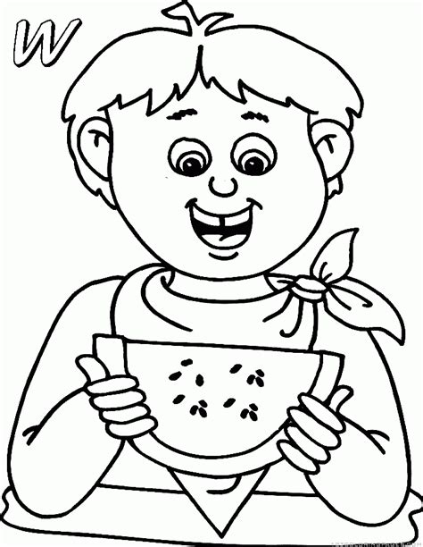 watermelon plant coloring page watermelon coloring pages