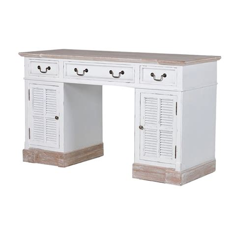 Newport Whitewashed Desk From Alexander Pearl Country White Country Desk
