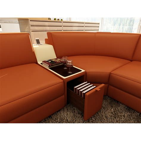 hokku designs leather sectional hokku designs st tropez 6 piece leather sectional wayfair