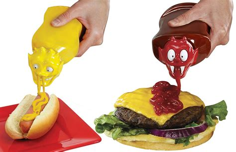 Cool Vases Ketchup Kritter And Mustard Monster Squeeze Bottle Caps