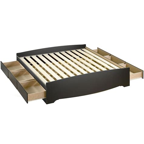 bed platform with storage platform storage bed king sized in beds and headboards