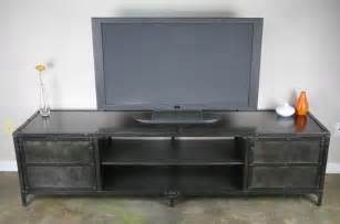 custom tv stands buy a made vintage industrial media console tv stand