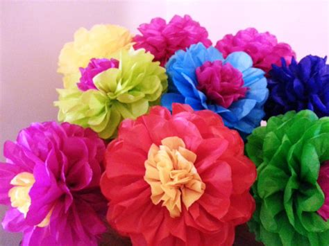 How To Make Mexican Decorations With Tissue Paper - tissue paper flowers set of 8 tissue paper by pomgarden