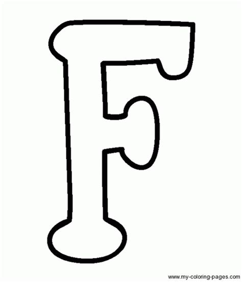 Capital F Coloring Page by Coloring Capital Letters F Vbs Applique