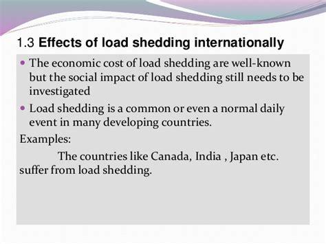 What Causes Load Shedding load shedding