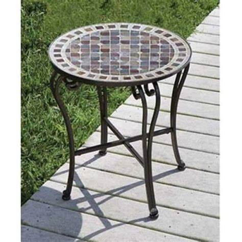 mosaic patio side table the portobello 20 quot side table by alfresco home patio