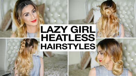 heatless hairstyles youtube 16 heatless hairstyles for lazy girls youtube