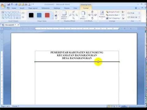 cara membuat garis judul di ms word full download cara mudah membuat garis lurus di ms word
