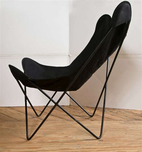 Canvas Sling Chair by Pair Of Hardoy Chairs In Black Cotton Canvas Sling At 1stdibs