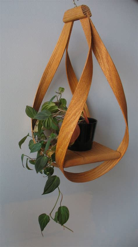 How To Make A Plant Holder - bentwood hanging plant holder 50 00 via etsy futura