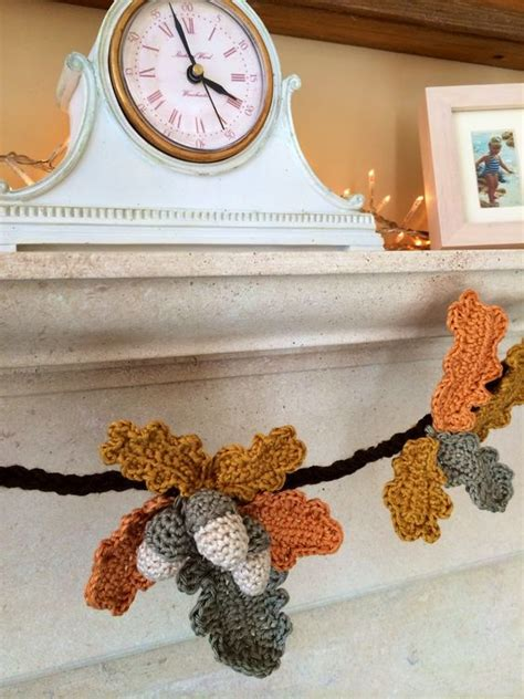 free crochet pattern leaf garland free crochet leaf patterns crochet now