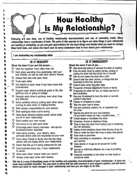 Healthy Relationships Worksheets by Healthy Relationships Worksheet Wiildcreative