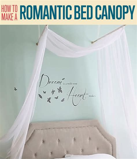 how to build a canopy bed how to make a romantic diy bed canopy diy ready