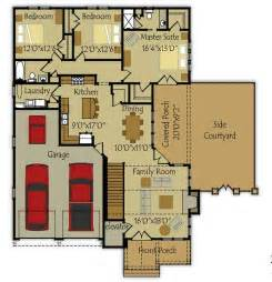 Small House Floor Plans With Garage by Small House Floor Plan Colors Ideas House Pinterest