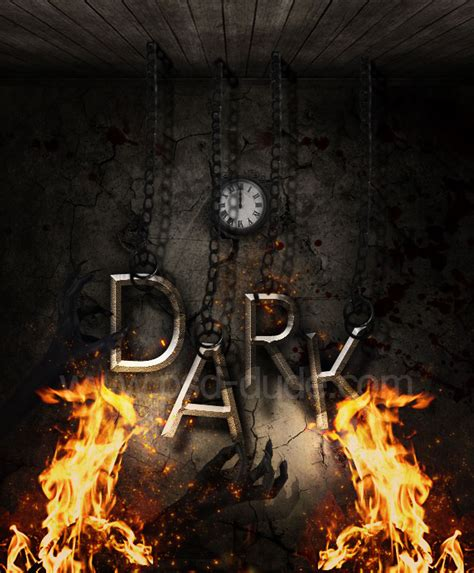 tutorial photoshop gothic dark gothic text with fire effects in photoshop