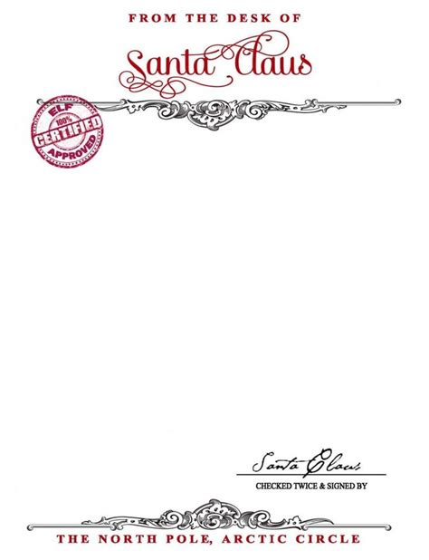 santa letterhead template 1000 ideas about santa letter on letter from