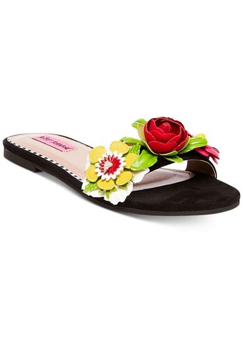 betsey johnson slippers betsey johnson betsey johnson adilyn floral slide sandals