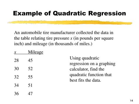 calculator quadratic regression ppt chapter 2 functions and graphs powerpoint