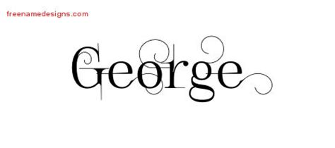 tattoo name george george archives free name designs