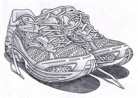 running shoe drawing running shoes