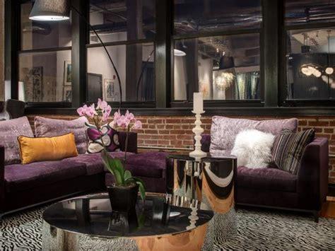 contemporary purple bedroom with zebra print rug hgtv photo page hgtv