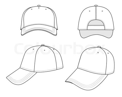 Baseball Cap Isolated On White Background Stock Vector Colourbox Snapback Design Template