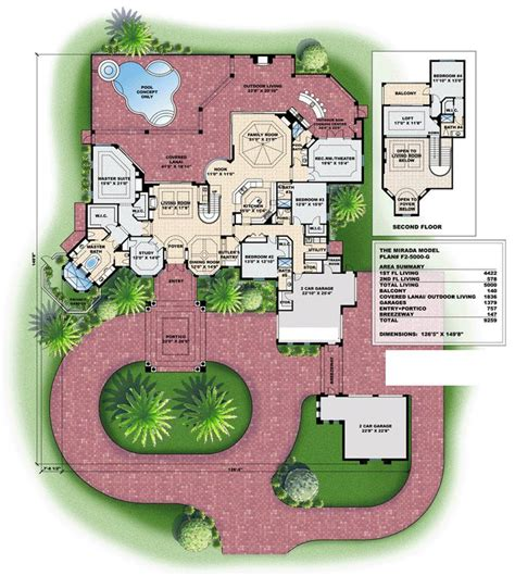 dream house plan pool included from coolhouseplans com 70 best images about dream house plan on pinterest