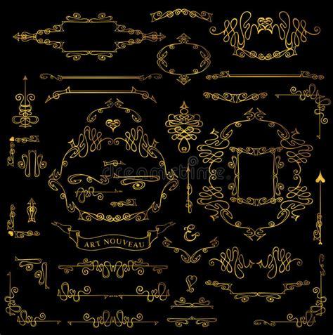 royal design elements vector calligraphic royal design elements set gold frames