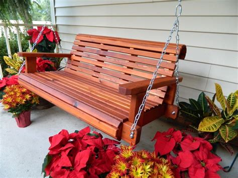 Handmade Porch Swings - 4f handmade southern style heavy duty cedar porch swing