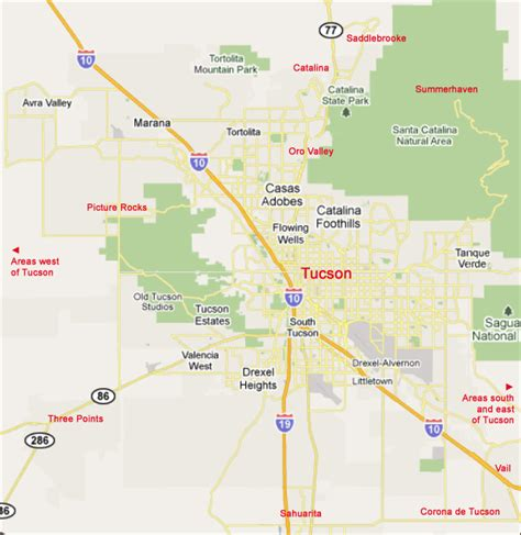 map of tucson tucson area intergroup locations by city