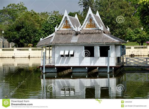 boat house thailand bang pa in thailand royal palace boat house stock photo