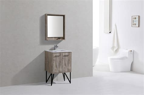 Bathroom Vanity Montreal Bosco 24 Quot Modern Bathroom Vanity W Quartz Countertop And Matching Mirror