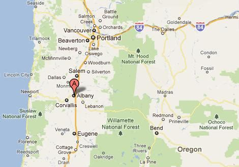 where is albany oregon on map five places named albany