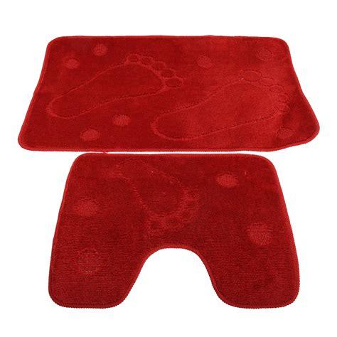 bathroom mats set 2 piece footprint design bathroom bath mat and pedestal