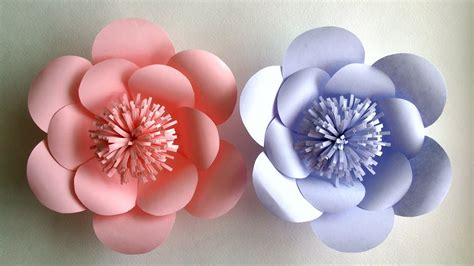 A Paper Flower - how to make paper flowers paper flower tutorial step
