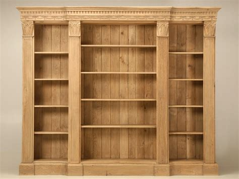 White Wood Bookcases Modular 110 Quot Wide Weathered White Oak Bookcase W