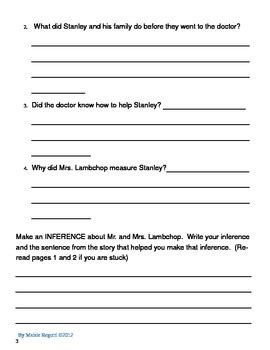 flat stanley book report flat stanley reading comp packet by daisyheadmaisie tpt