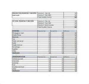 personal expense sheet template personal monthly expense sheet template daily monthly