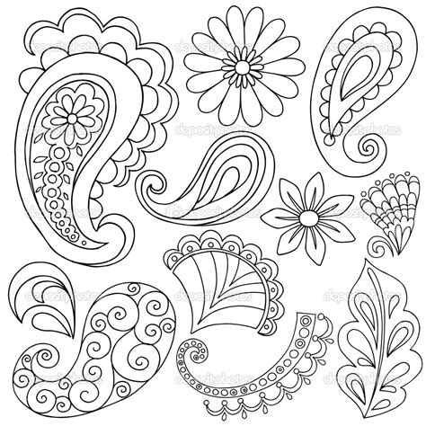 color pattern drawing 14 images of bandana paisley design coloring pages to