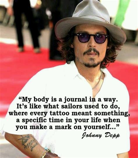 johnny depp tattoo saying johnny depp quote tattoos art you can take with you