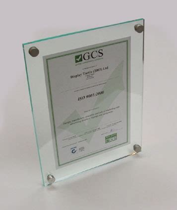 Acrylic Ukuran A4 gcs frameless acrylic picture frames certificate perspex