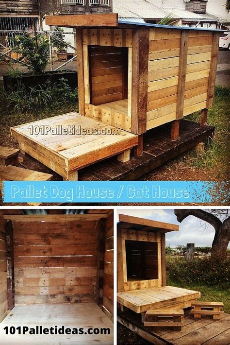 dog and cat house diy pallet dog house cat house playhouse 101 pallet ideas