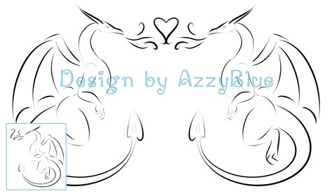 dragon tattoo for couples dragon couple s tattoo by azzyblue on deviantart
