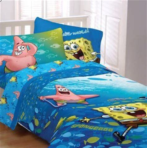 spongebob in bed spongebob squarepants fish swirl twin comforter sheet