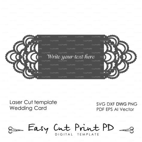 Silhouette Cameo Flip It Card Template Downloads by Necklace Diamonds Wedding Invitation Card Template