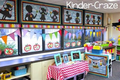 themes for decorating kindergarten classroom rainbow 4 classroom set up colorful class pinterest