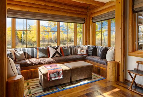 private residence wyoming rustic sunroom